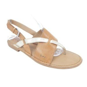 BOC Lowery Leather Thong Toe Slingback Flat Sandal